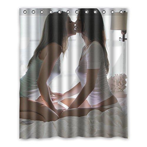 Dalliy Brauch Sexy Girl Frau Wasserdicht Polyester Shower Curtain Duschvorhang 152cm x 183cm