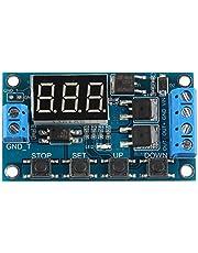 HALJIA Interruptor de retraso del temporizador del disparador del circuito del interruptor de retraso de doble tubo MOS placa de control DC 24V/12V Reemplazo del módulo del relé