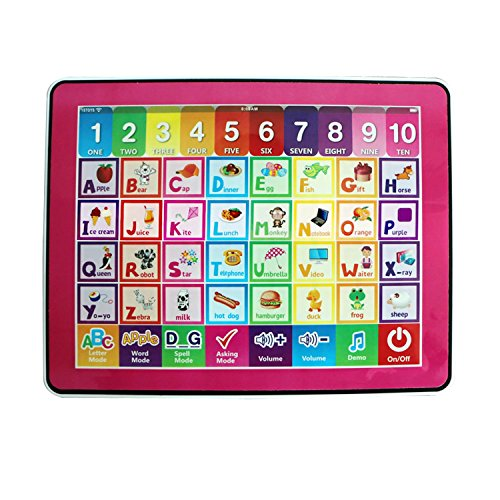 RVM Toys Y Pad Touch Screen Smart English Musical Educational Learning Tablet Alphabet ABC & 123 Numbers Learning Tab for Kids