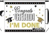 ZPC 7x5ft卒業おめでとう卒業背景クラスおめでとう卒業クラス私は大学のプロムの写真キャンディテーブルデザートパーティー式典装飾バナーイベント写真撮影写真ブース