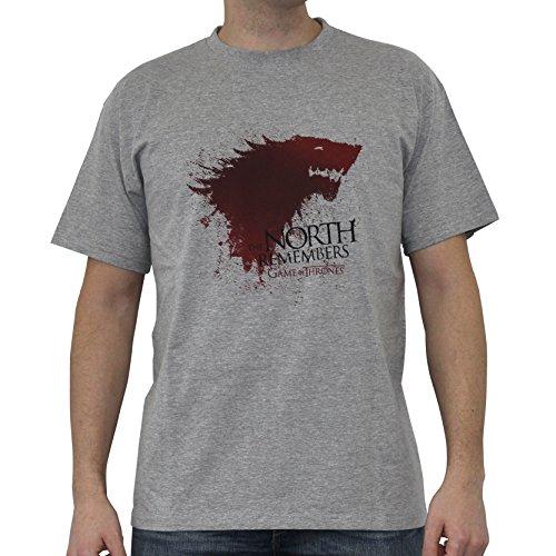 ABYstyle - Juego DE Tronos - Camiseta - El Norte - Hombres - Gris(L)