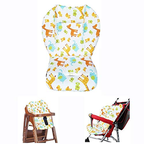 YIY Housse de coussin de chaise haute respirant pour poussette, voiture et chaise haute Motif animal Multicolore