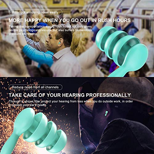 Noise Cancelling Ear Plugs for Sleeping, Concerts, Airplanes and More by USEVEN - Reusable High Fidelity Noise Reduction Ear Plugs for Hearing Protection and Sound Blocking - 2 Pairs (Medium & Large)