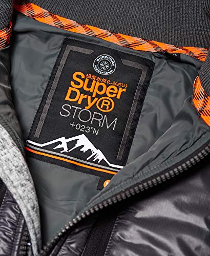 Superdry Mens Storm Hybrid Coat in Light Grey Grit (Large)