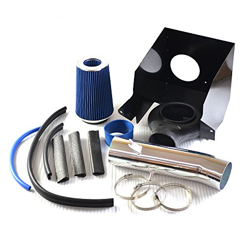 MILLION PARTS 4'' Cold Air Intake Filters System with Heat Shield 5.2L 5.9L V8 Blue