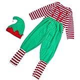 SOIMISS 1 Juego Disfraz de Elfo Navideño Disfraz de Payaso de Halloween Disfraz de Fiesta Cosplay Disfraz para Hombres