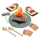 Fisher-Price S'More Fun Campfire - 18-Piece Pretend Camping Play Set with Real Wood for Preschoolers...