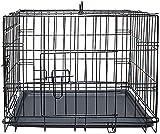 Bursthx Portátiles de Metal Cachorros de Entrenamiento del cajón del Perro Jaula del Animal doméstico Viajes,Black-XL