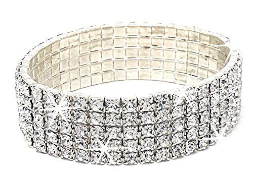 jowiha Arunta® Funkelndes elastisches Collier Armband mit Strass
