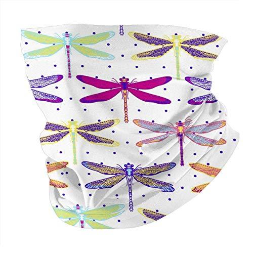 Tzshak Décoration de Libellule (96) Coupe-Vent Chapeaux Bandeau écharpe Masque Facial Lavable poussière Cou Bandana Masque Cagoule