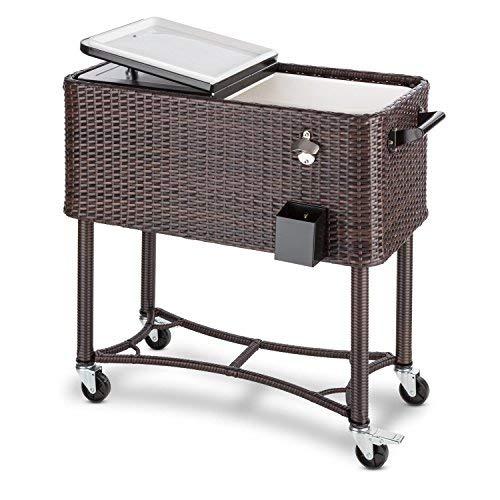 blumfeldt Springbreak - Bar Mobile, glacière frigorifique pour terrasse et Jardin, contenance de 80L (décapsuleur...