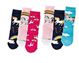 C&C KIDS Kinder Socken,6 Pack,23/26,motiv/Pony-Einhorn