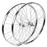Ruedas Delantera y Trasera Westwood 28 x 1 ½ de Acero Cromado para Bicicleta clásica