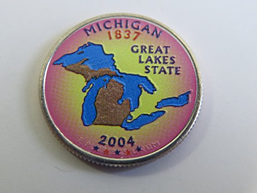2004 Various Mint Marks Michigan State Colorized Quarter Choice Uncirculated