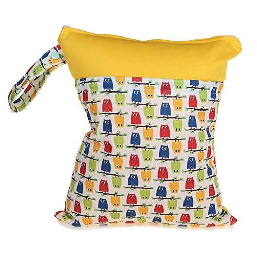 30x36cm Moda Impresión Bebé Pañal Bolsa de Almacenamiento Reutilizable Impermeable Bolsa de Pañales Utilidad Para Usar