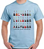 Guitar Mens T-Shirt Funny Electric Acoustic Bass Amp Amplifier Pink Sapphire s