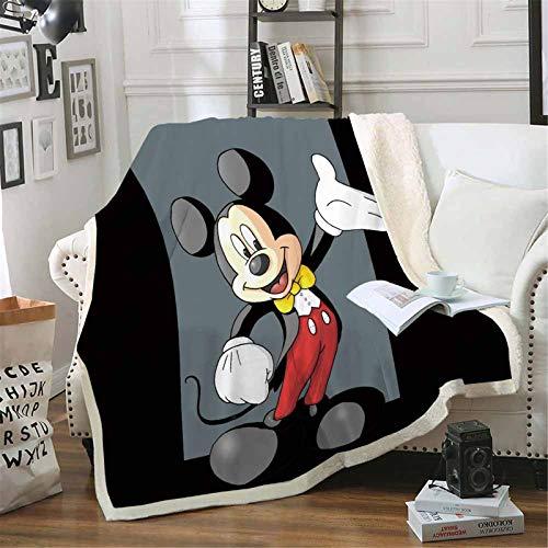 Goplnma-Disney Decke Mickey Und Minnie,Kuscheldecke Mickey Mouse Minnie,Übergroße Fleecedecke,für Erwachsene Und Kinder (150 * 200,13)