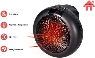 MEC Home Plug In Calentador eléctrico - Mini ventilador doméstico calentador de espacio portátil calentador con pantalla LED para el hogar/oficina/camper (negro) nuevo*
