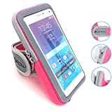 LENPOW Multifunctional Outdoor Sports Armband Sweatproof Running Armbag Casual Arm Package Bag Gym Fitness Cell Phone Bag Key Holder for iPhone 11 Pro Max XS X 8 7 Plus Samsung Galaxy Note S10 S9 Edge
