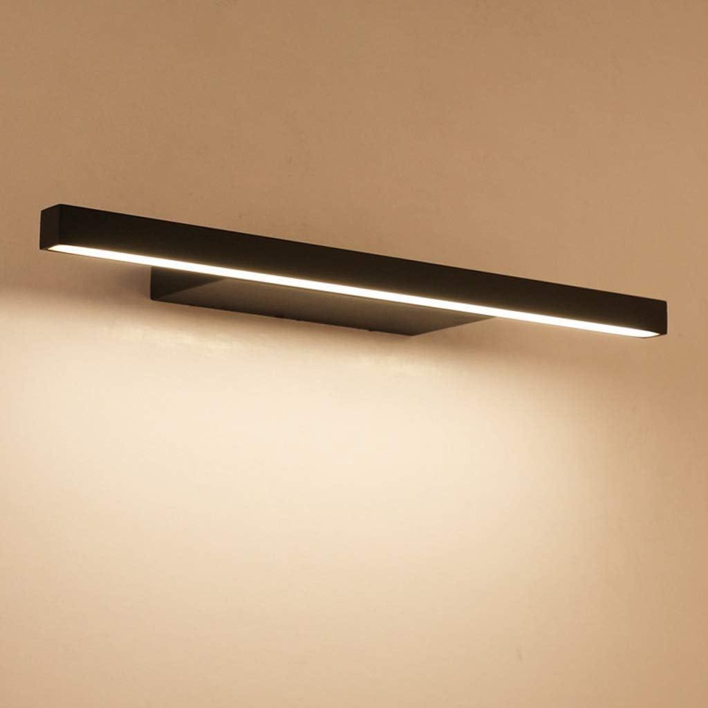 Shuai Beautiful lamp/ * Black Mirror Scheinwerfer-LED Einfaches Mural-Raum-Wand-Lampe Badezimmer wasserdichte Anti-Fog Badezimmer-Lampe (Größe: 42cm) (Color : 72cm) 62cm