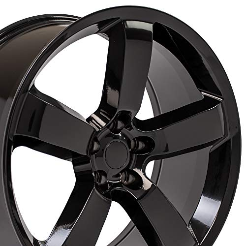 OE Wheels LLC 20 Inch Fits Dodge Challenger Charger SRT8 Magnum Chrysler 300 SRT8 DG04 Gloss Black 20x9 Rim