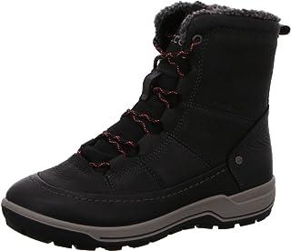 ECCO Women's Trace Lite Mid Hydromax Water-Resistant Winter Snow Boot, Black Nubuck, 41 M EU (10-10.5 US)