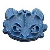 Cuticuter Desdentao el Dragón Cara Cortador de Galletas, Azul