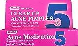 RUGBY BENZOYL PEROX GEL/ACNE MED 5% BENZOYL PEROXIDE-5% White 42.5GM UPC 305361055561