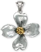 Dogwood Jewelry Silver And Gold Dogwood Pendant Handmade Flower Jewelry DGW3-TNP