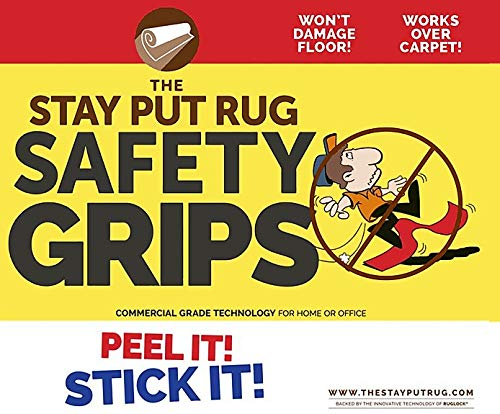 Stay Put Rug Non-Slip SAFETY GRIPS- Keeps rugs from lifting, shifting or curling (4)