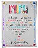 Fleece Blanket Mimi - We Love You - Granddaughters - Bed Throw Tapestry Gift Mom dad Fleece Blanket Throw Gift for Wife Husband, Christmas, Mothers Day, Birthday, Anniversary 30x40 inch