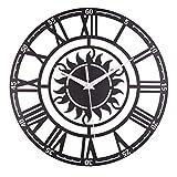 Haiyemao Álbum Infantil Creative Retro Decorativo Sun Roman Acrílico Digital Reloj De Pared Álbum de Fotos Adecuado para Bodas, Especial para (Color : Negro)