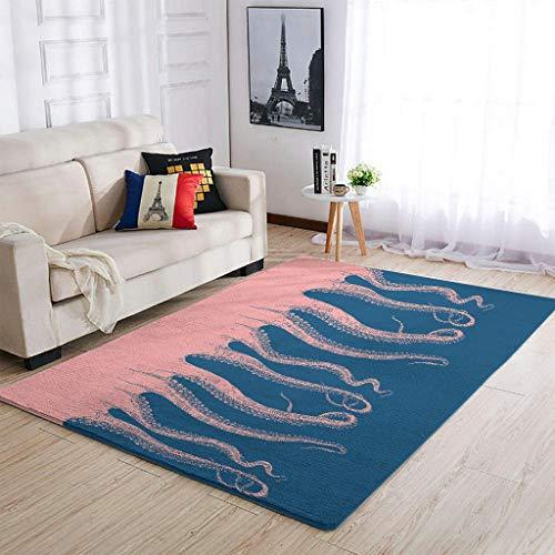 XunYun Alfombra de yoga para habitación de niños, color rosa, antideslizante, 50 x 80 cm, color blanco