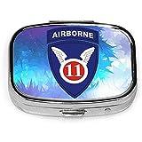 11th Airborne Division Fashion Square Pill Box Vitamin Organizer Case