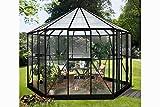 Vitavia Gewächshaus Hera aus Alu/Glas schwarz Hera 9000, ESG/HKP 6 mm