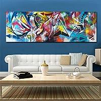 抽象的な色キャンバスポスター壁アート絵画寝室の部屋の壁の装飾現代アートプリント印刷されたオフィスの家の写真-30x90cmフレームなし