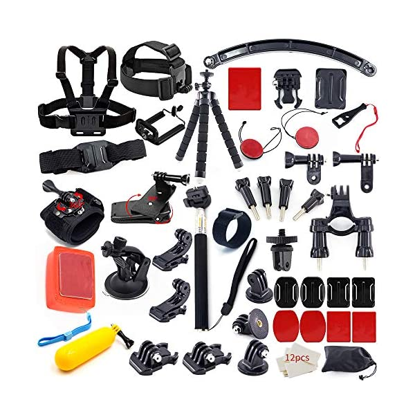 MOUNTDOG Action Camera Accessory Kit for Go Pro Hero 8 7 6 5 4 3+ 3 Hero Session...