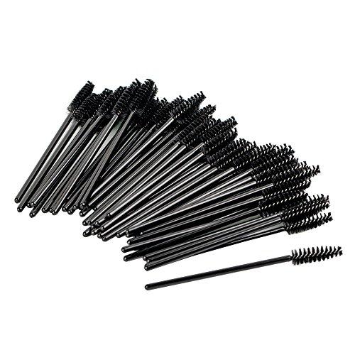 Shintop 100 Stück Einweg Wimpernbürste Set, Wegwerf Wimpern Mascara Bürste (Schwarz)