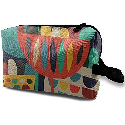 Voyage Cosmetic Bag Portable Sac À Main Couleur Fleur Trousse De Toilette Petit Maquillage Sacs Cas Organisateur