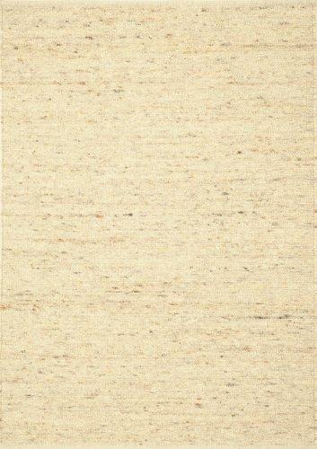 Tisca Teppich aus Schurwolle Landscape handgewebt beige (140 x 190 cm)