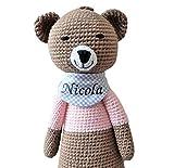 ds-handmade handgefertigte Baby Spieluhr - mit Namen personalisierte Baby Geschenke Mädchen - Teddy...