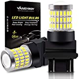 VANSYROY 3157 3156 3057 3457 4157 T25 LED Bulbs Xenon White, Super Bright 58-SMD with Projector Replacement for Backup Reverse/Turn Signal Light, Brake Stop Tail/Parking Running Lights (Pack of 2)