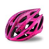 YQPWJ Casco Bici del Deporte De Bicicleta De Montaña Casco con Las Mujeres Hombres Ciclo Aire Libre Superlight Veinte Tamaño Fresco del Camino MTB del Ciclista L/M,Rosa,M