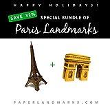 PaperLandmarks Paquete - 2 Monumentos de Paris - Ahorra 32% Kit De Construcción Modelo de Papel
