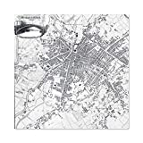 Map Pigot 1819 Manchester Salford England Plan Chart Large Wall Art Poster Print Thick Paper 24X24 Inch Mapa Inglaterra Pared Impresión del Cartel
