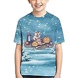 794 Cubone Children T-Shirt Cute Tee Shirt Teenager Short Sleeves Camiseta Crop Top Medium Black
