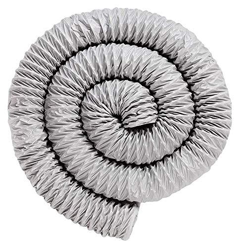 Molinter Abluftschlauch Aluflexrohr Aluminium Flexschlauch Lüftungsschlauch Doppelschicht Aluminiumfolie Luftschlauch für Wäschetrockner Abzugshaube Rohrventilator Klimaanlagen 8m (Durchmesser: 200mm)
