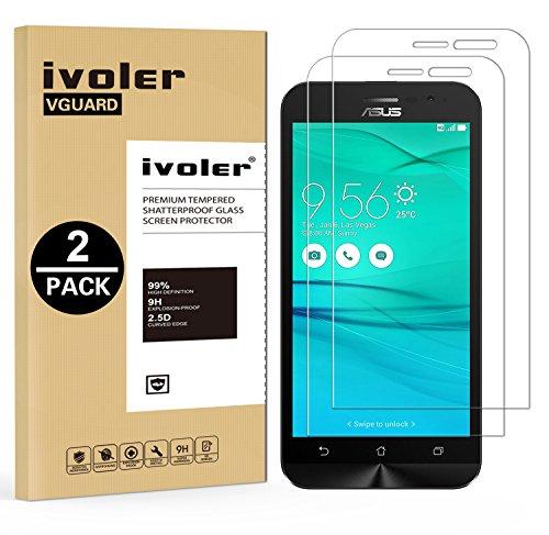 ivoler [Pack de 2] Verre Trempé pour ASUS Zenfone Go ZB500KL 5.0 Pouces [Garantie à Vie], Film Protection en Verre trempé écran Protecteur vitre (0,3mm HD Ultra Transparent)