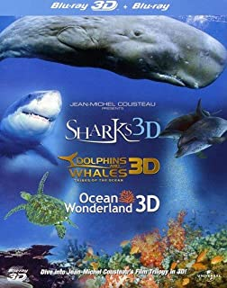 Jean-Michel Cousteau's Film Trilogy: Dolphins & Whales/Sharks/Ocean Wonderland (Blu-ray 3D + Blu-ray) [Region Free] (B004I85CY4) | Amazon price tracker / tracking, Amazon price history charts, Amazon price watches, Amazon price drop alerts
