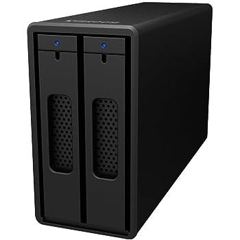 SOHOTANK ST2 Black (ST2-B3-6GB) USB3.0 RAID0/RAID1/JBOD 2ベイスリムRAIDケース